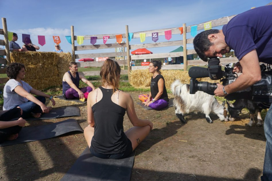 Simply Soulful Goat Yoga_BBC Spotlight_David Bassett