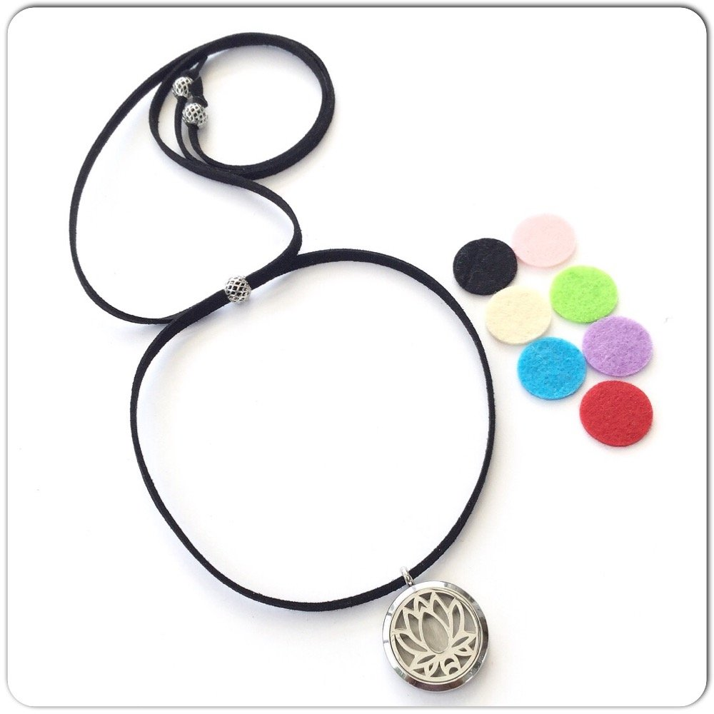 Essential Oil Lotus Diffuser Necklace Simply Soulful Yoga