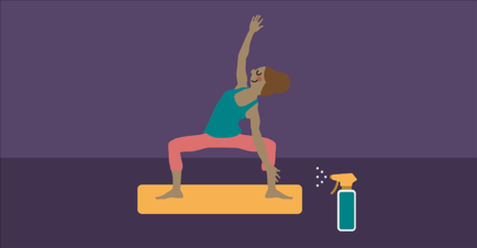 How to Keep Your Yoga Mat Clean